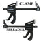 "6"" Inch Ratcheting Release Bar Vise Grip Clamp Squeeze Wood Spreader One Handed"