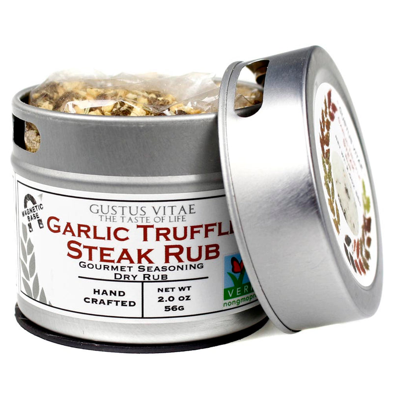 Gustus Vitae Garlic Truffle Steak Dry Rub Natural Seasoning 2 Oz 64350-Gustus