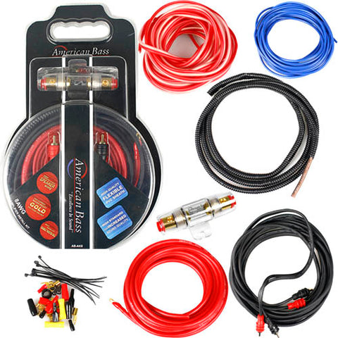 Acouto Wire Cable Kit,2800W 4 Guage Car Audio Subwoofer Amplifier Speaker Installation Wire Cable Kit Fuse Suit
