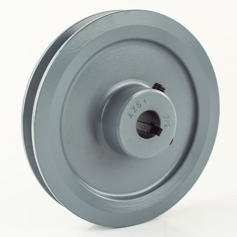 "5"" Cast Iron Single Groove Pulley A Belt (4L) Style 5/8"" Shaft"
