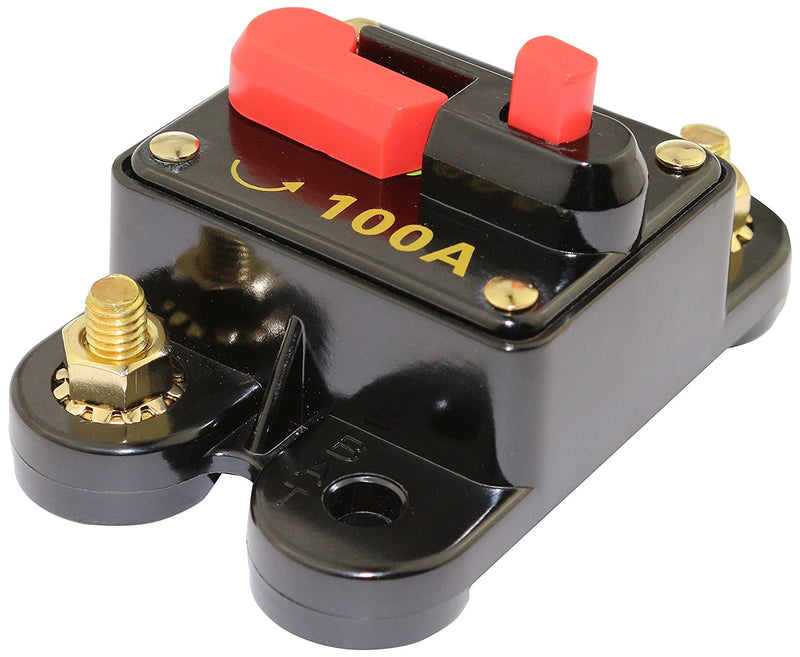 New Bullz 12 Volt 100 Amp Car Audio Circuit Breaker Stereo In Line Fuse BCB100A