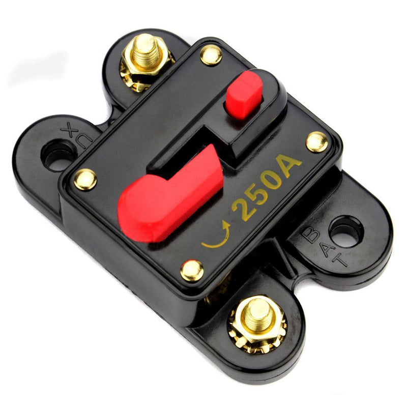 Bullz Audio 12 V 250 Amp Car Audio Circuit Breaker Stereo In Line Fuse BCB250A