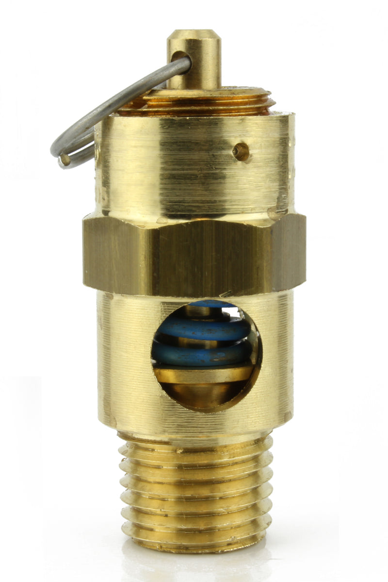 "300 PSI 1/4"" Male NPT Air Compressor Pressure Relief Safety Pop Off Valve"