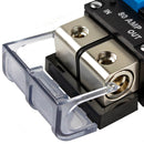 80 Amp Circuit Breaker 12V Car 1 2 4 Gauge In Out Terminal Block Manual Reset