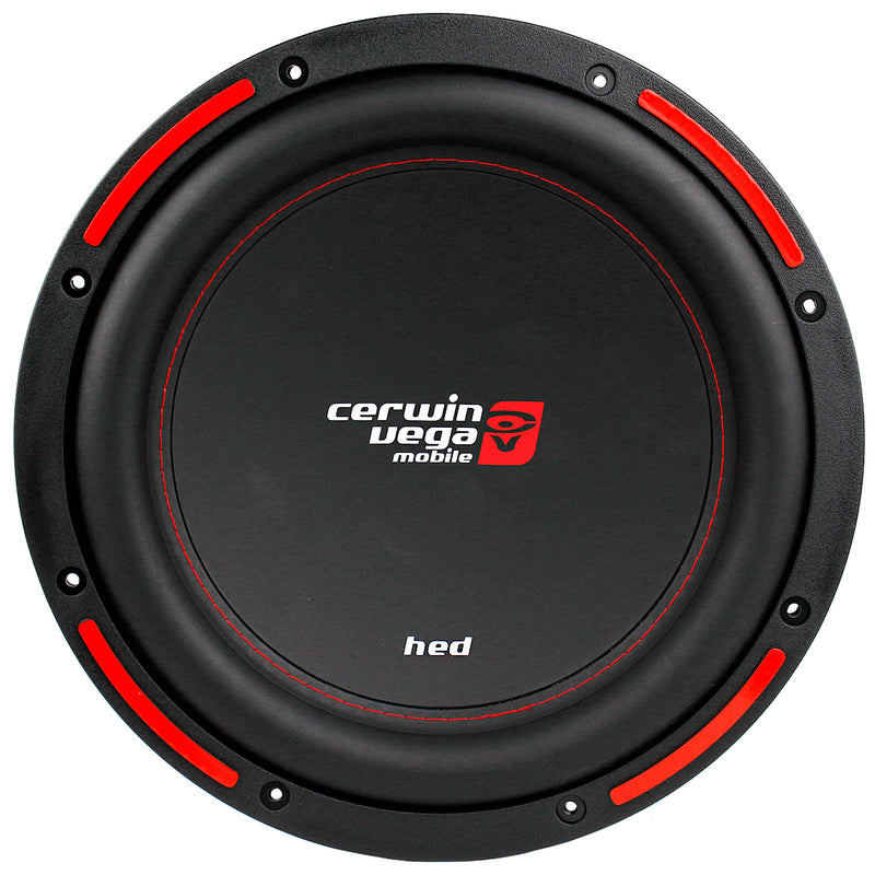 "1400W Max Power 12"" Dual 4 Ohm Subwoofer DVC HED Series Cerwin Vega CER-H7124D"