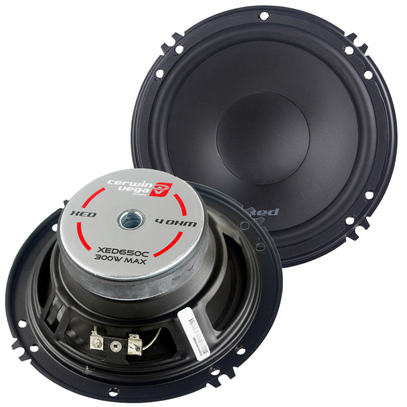 "Cerwin Vega 2 Way Component 6.5"" Speaker Set Metal Dome .75"" Tweeter Xed650c"