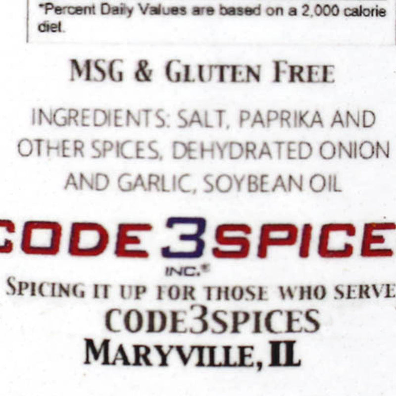 Code3Spices Sea Dog Rub Cajun Blend Spicy 12 oz. Bottle MSG and Gluten Free SD12