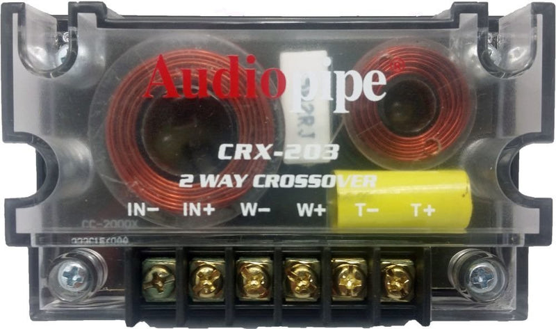 Audiopipe Passive 2 Way Car Audio Crossover / Two-Way Speaker and Tweeter 300 W
