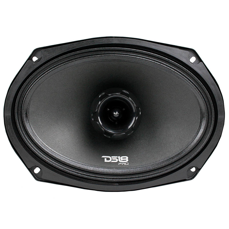"6x9"" 2 Way Midrange Speaker Built In Tweeter 550 Watts Max 4 ohm DS18 PRO-ZT69"