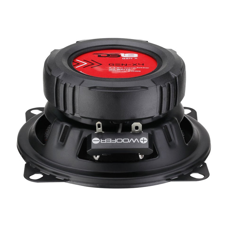 "DS18 GEN-X4 4"" 2-Way Coaxial Speakers 120 Watts Max Power 4 ohm GEN Series"