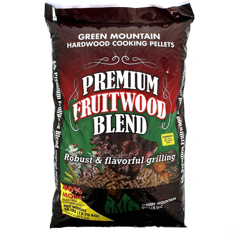 Cooking Pellets Premium Fruitwood Pellet Blend 28lb Bag Cherry Beech Pecan GMG