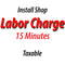 Install Shop Labor Charge - 15 Minutes Taxable