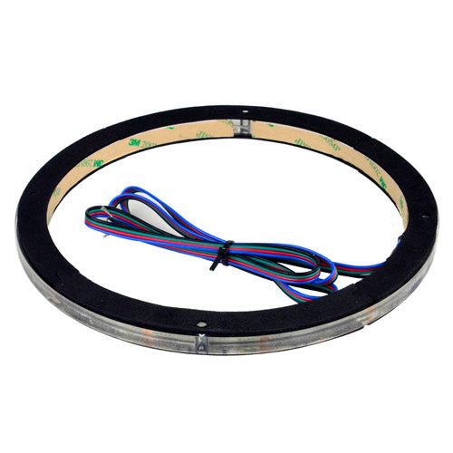 "12"" Waterproof RGB LED Speaker Ring 1/2"" Spacer DS18 LRING12 Accent Single"