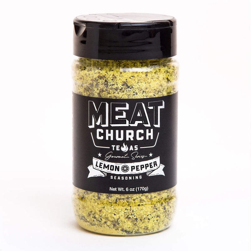 Meat Church Gourmet Lemon Pepper Seasoning 6 oz. Bottle