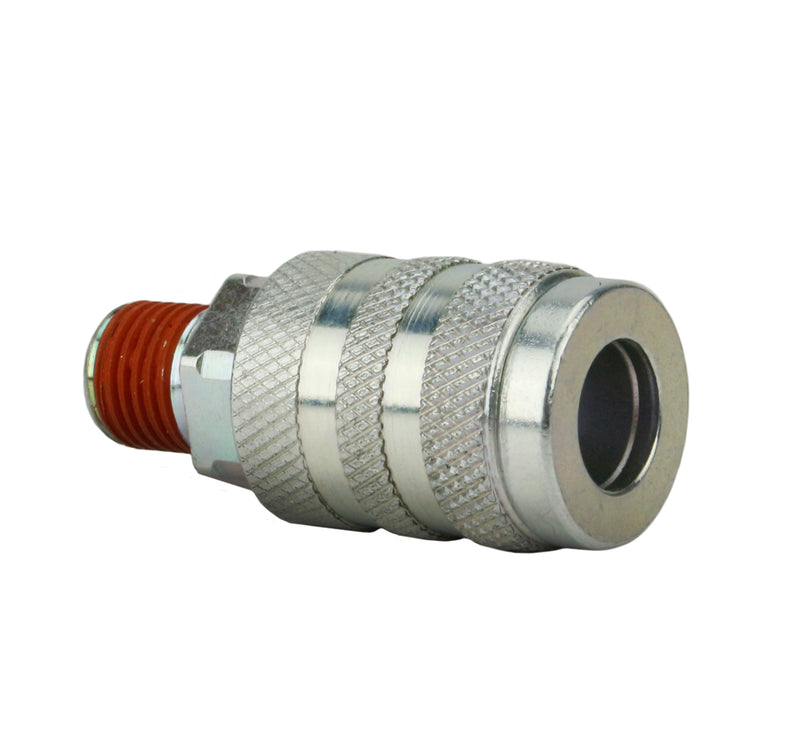 "Industrial Interchange 1/4"" Male NPT Steel Coupler"