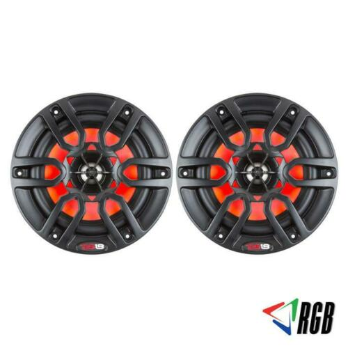 "6.5"" 2 Way Marine Speaker System RGB LED Light 300 Watts Max 2 Pack DS18 NXL6BK"