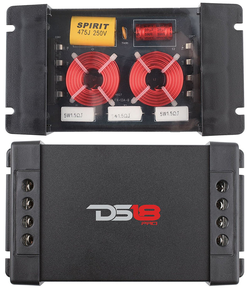 DS18 Pro-CFX Crossover Two Way Passive 300W Car Audio 2 Pack