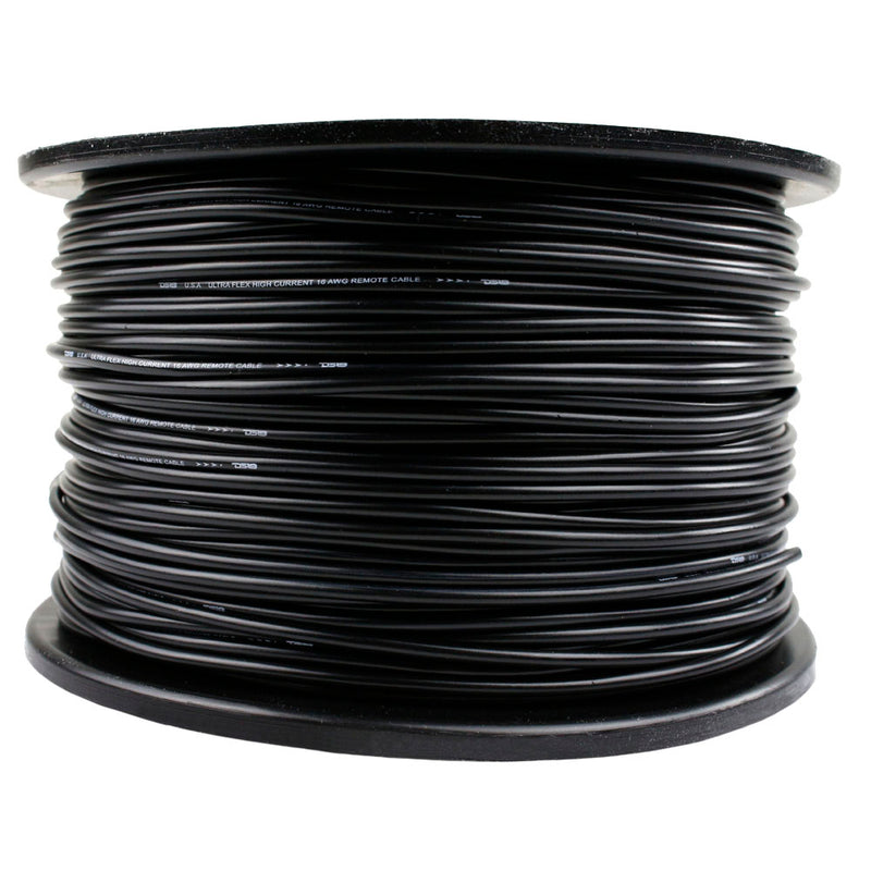 16 Gauge 500' Ft Black Primary Remote Wire 12V Auto Wiring Cable AWG Ultra Flex