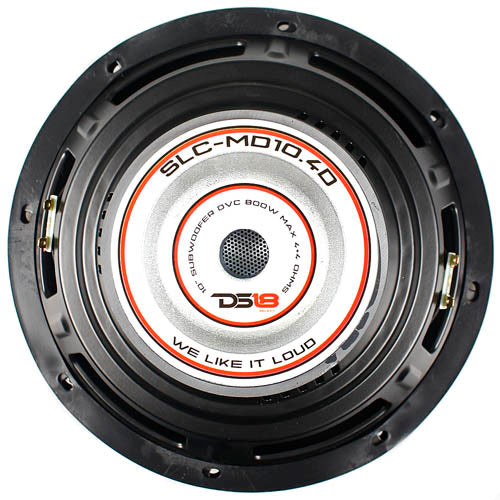 "DS18 Select 10"" Subwoofer 800 Watts Max Dual 4 Ohm Voice Coil SLC-MD10.4D Single"