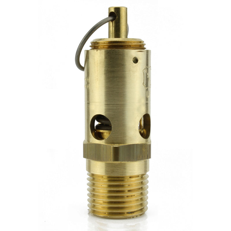 "250 PSI 1/2"" Male NPT Air Compressor Pressure Relief Safety Pop Off Valve"