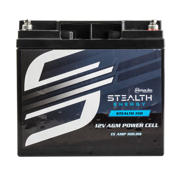 Car Audio Power Cell Battery Stealth 150 12V 15 Amp Hour Sealed American Bass