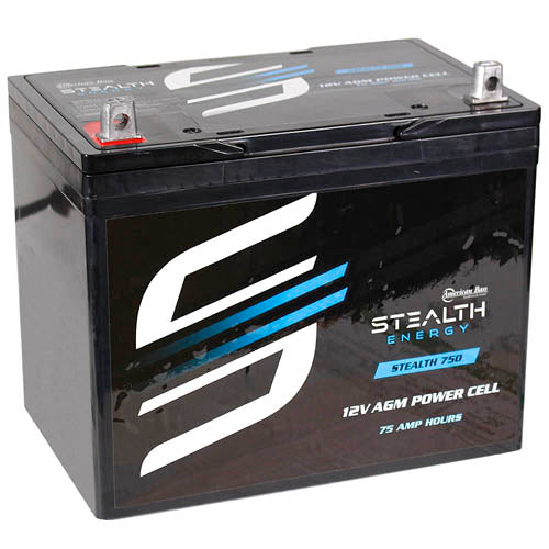 American Bass 12V Power Cell Battery 75 Amp Hours 1800 Watts AGM STEALTH750