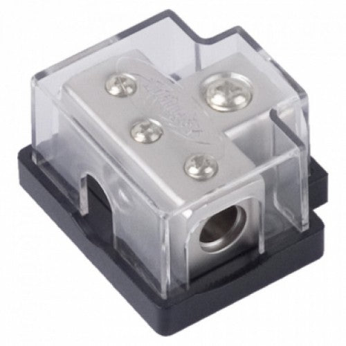 Xscorpion 0/4 Gauge Platinum Terminal T Distribution Block With Adapters TB0444P