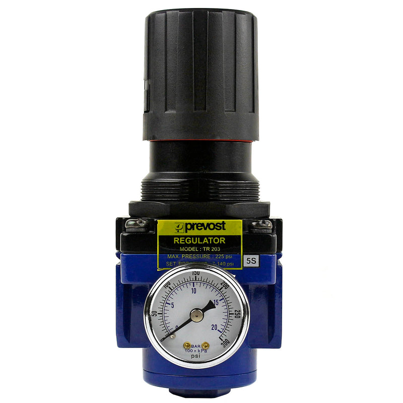 "1/2"" Female NPT Compressed Air In Line Regulator with 1/2"" Air Compressor Gauge"