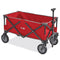 Uline Utility Wagon Quad Folding Pack and Play Red Rubber Wheels S-21433