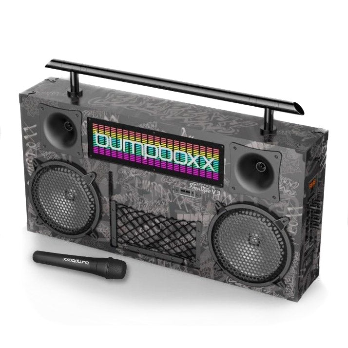 Bumpboxx Freestyle V3S Bluetooth Boombox BBG Black Graffiti BBV3BBG Rechargeable