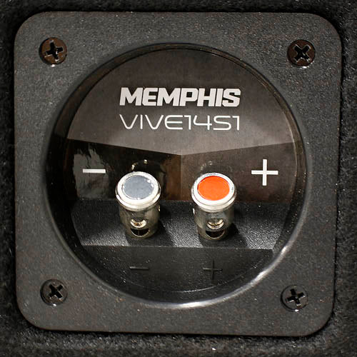 "Memphis Audio Single 14"" Loaded Enclosure 4400W Max 1 Ohm VIV Series VIVE14S1"