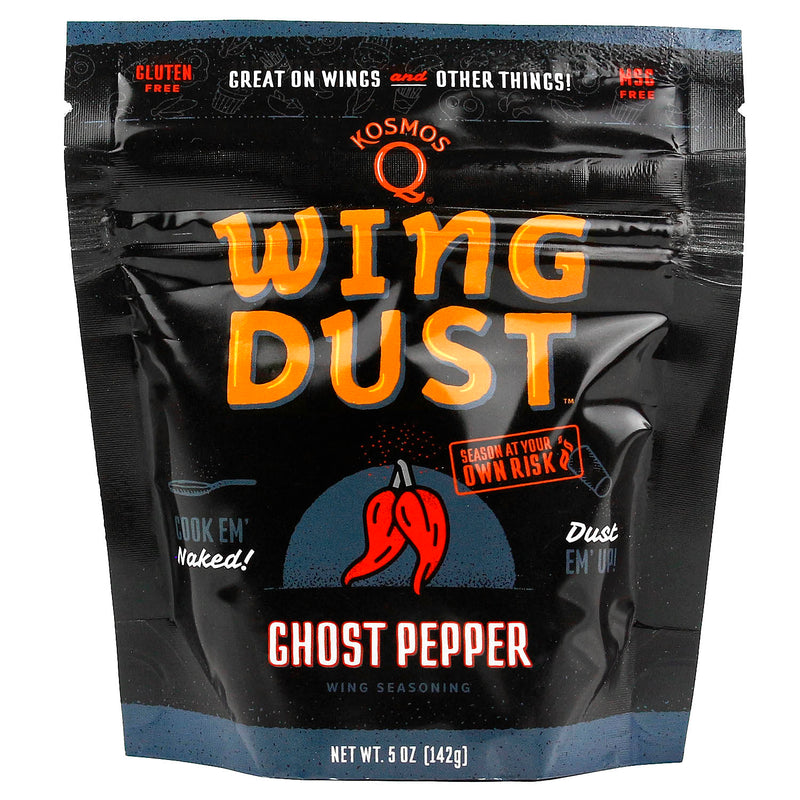Kosmos Q Wing Dust Ghost Pepper Hot Dry Rub Seasoning Competition Pit Master