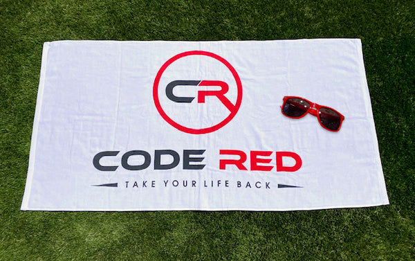 Code Red Beach Towel & Sun Glasses Bundle
