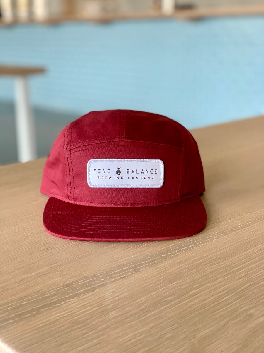 Fine Balance 5-Panel Hat - Ruby Red