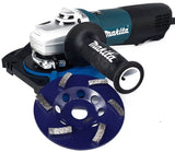 "Makita 9565PC 5"" single speed grinder packages."