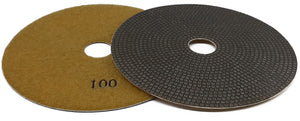 "ELEC series 4"" & 5"" electroplated hand machine polishing pads."