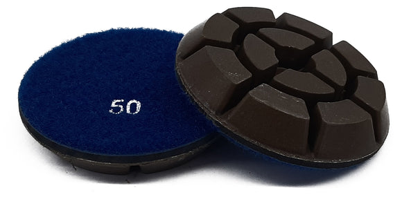 STD series 75 mm wet/dry resin machine floor pads.