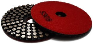 "4"" (100mm) dia. #30 grit metal polishing pad  **END OF LINE**"