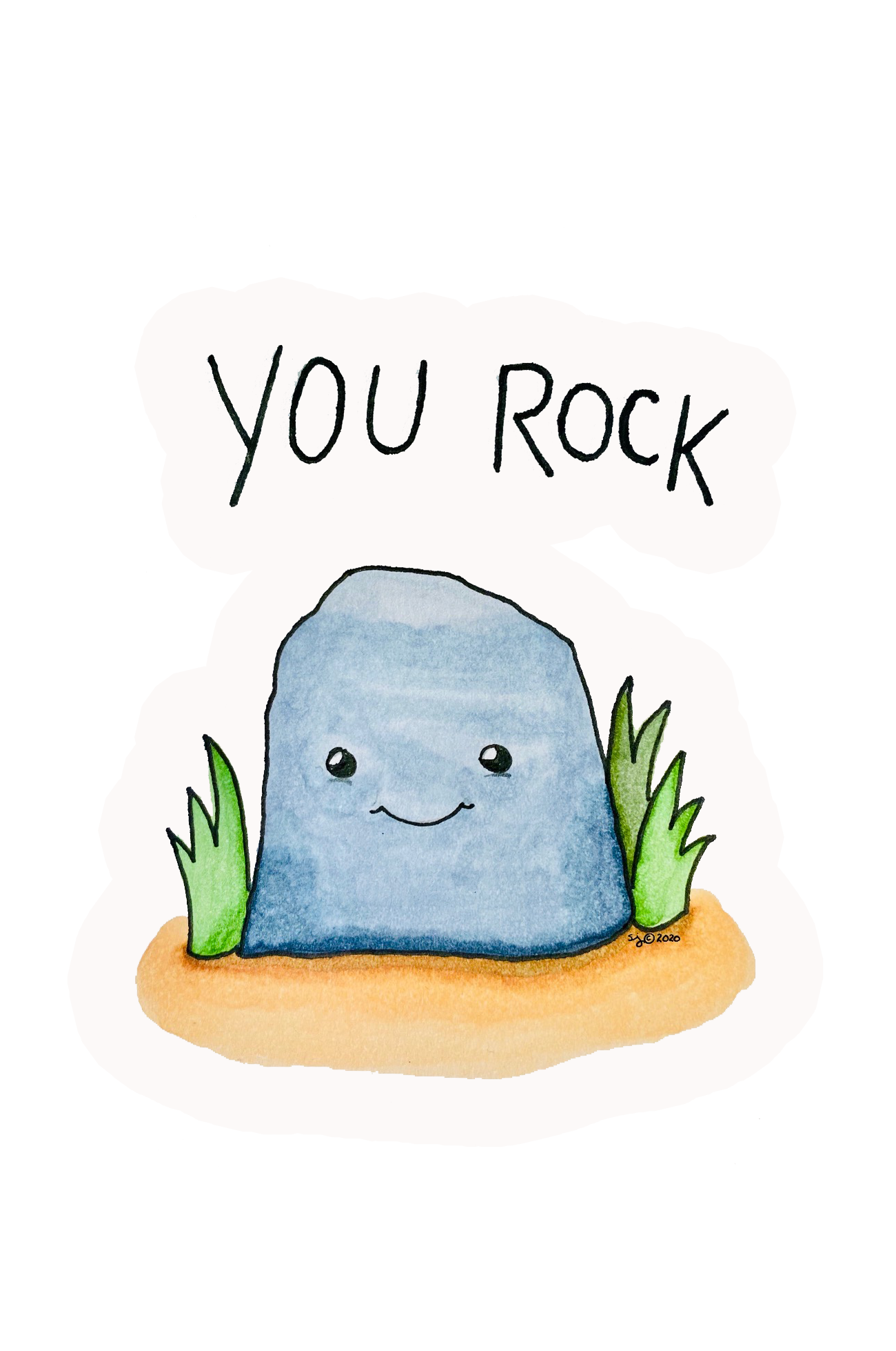 "You Rock Sticker  | Die-Cut Window, Water bottle, Skateboard, Car, Wall Decal, Laptop Vinyl Sticker - 3"", 5"" or 7"""