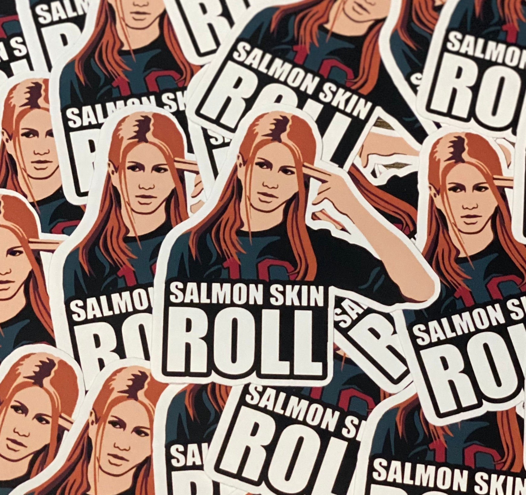 Friends Salmon Skin Roll Die Cut Sticker