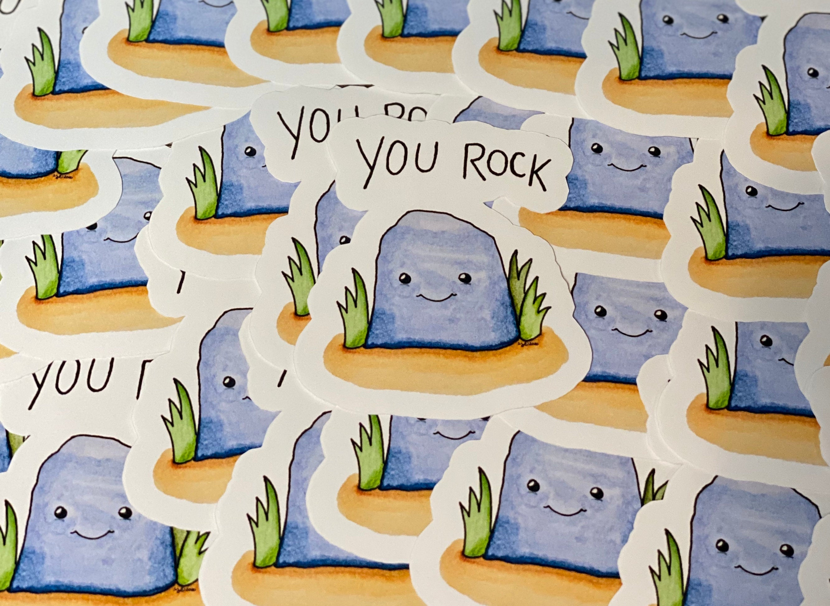 You Rock Die Cut Sticker