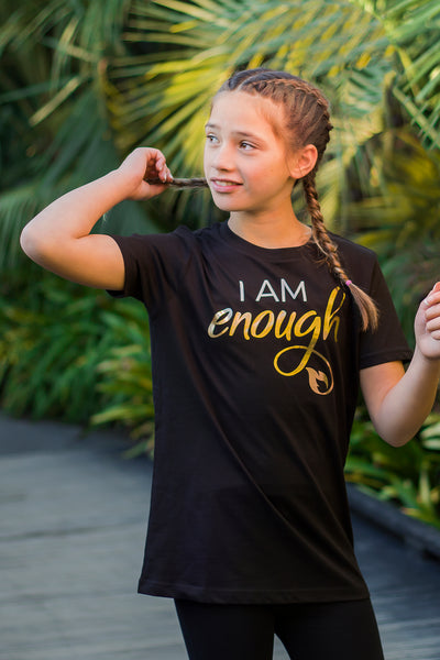 Be courageously YOU with our I AM ENOUGH T-Shirt