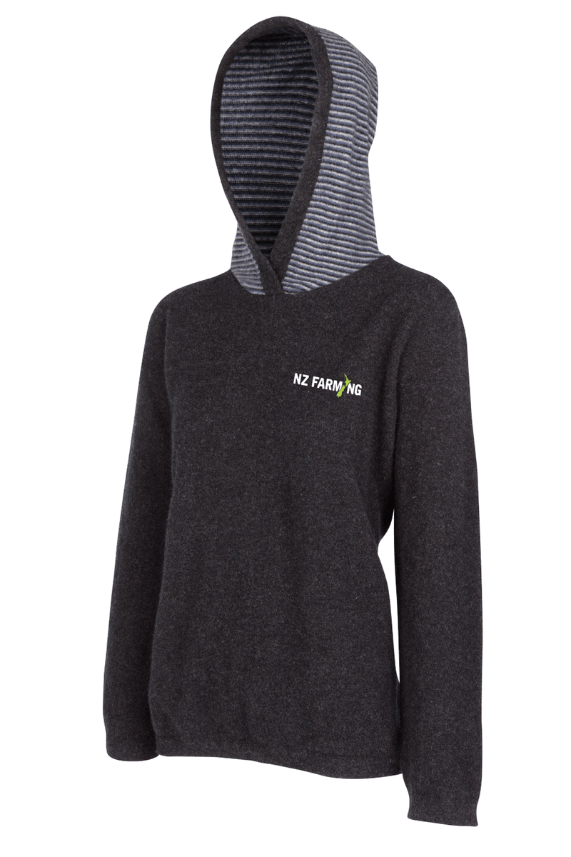 MKM Womens Striped Hoodie - NZ Farming Store