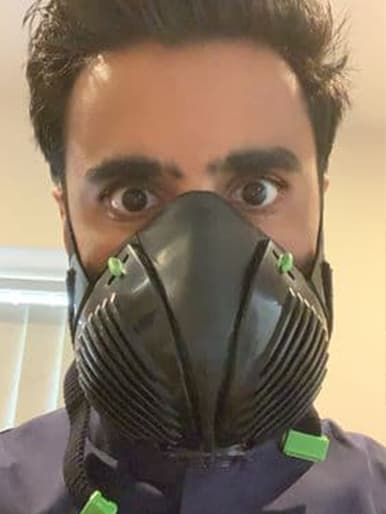 Adam G. with Stealth P3 Respirator Facemask