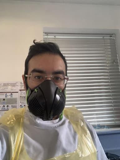 Ameen R. with Stealth P3 Respirator Facemask
