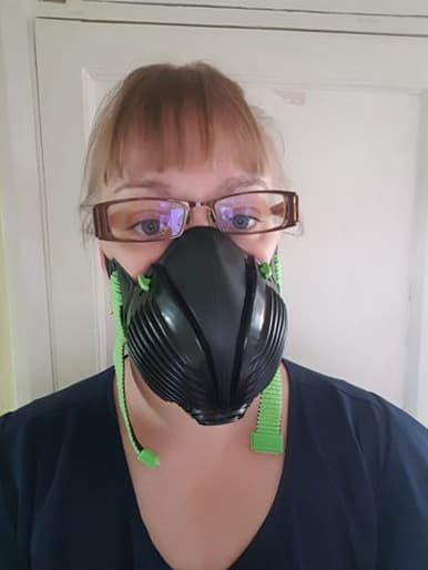 Melissa D. with Stealth P3 Respirator Facemask