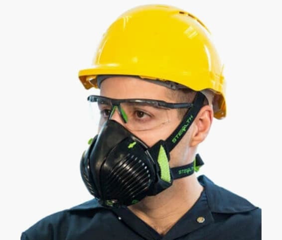 Construction profile wearing P3 face mask