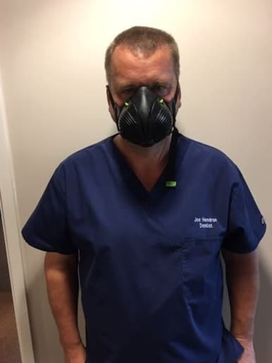 J H. with Stealth P3 Respirator Facemask