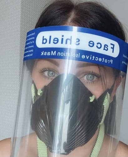 Dental Specialist Samia Wearing Face Mask P3