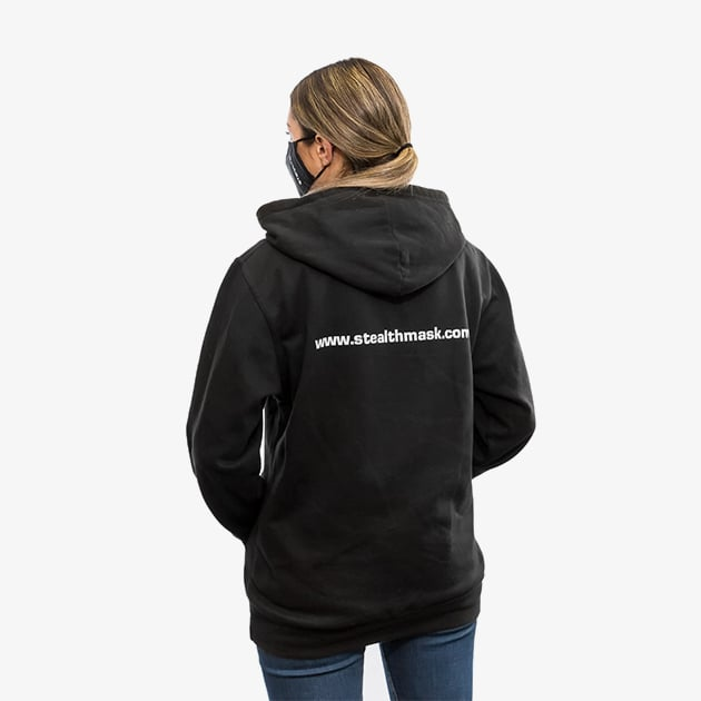 stealth hoodie lifestyle back women